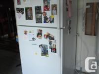 A white KitchenAid fridge, KTRS19KHWH00. Price is firm.