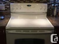 White Maytag Range + White Hood Fan   both items have