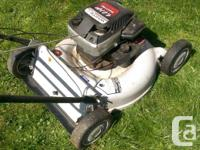 "White quatro lawnmower 21"" blade 4HP Briggs and"