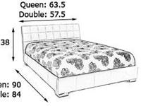 - Upholstered Queen Bed - White - Modern design with