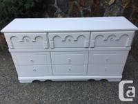 This vintage 9 drawer dresser has just been refreshed