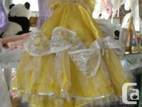 "White Satin 10"" Doll Dress, In EXC > 50% gets taken OFF"