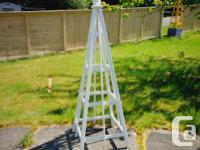 6' tall cedar obelisk available with white stain or