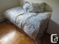Twin Dimension bedframe and mattress/boxspring for sale