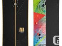 Whitegold - North (156) Luxury Snowboard. Brand name