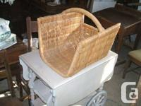 Pic 1 shows a very nice wicker basket with a price of