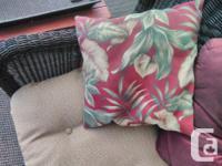 Settee cushion 20x45 2 chair cushions 18 x 18 6
