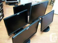 "9"", 20"" widescreen LCD monitors big sale, excellent"