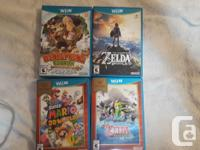 Wii U Console, Gamepad,Pro Controller, all the cords,