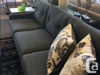 This modern sofa is ready to take home and a great