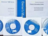 4 cd's and manual with drivers and operating system.