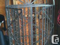 88 bottle cold rolled metal wine cage. 2 front doors