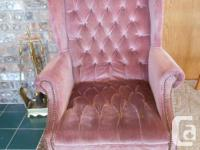 Pair of Wing Back chairs, no rips or tears, in good