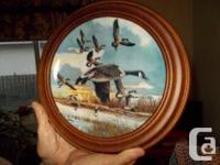 1) 'The Landing' 1986 complete with wooden frame 2)