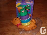 Winnie the pooh musical honey pots roly poly stacker 6