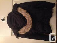 Black, small Rickie's winter season coat with removable