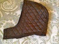 As new (worn once) quilted winter coat with removable