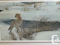 Winter Companion - Yellow Labrador by Robert Bateman ~