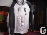 winter months coat available, size L, has hood and also