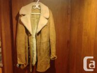 Used, WINTER MENS COAT MAC MOR Sheerling SHEEPSKIN LAMBSKIN for sale  British Columbia