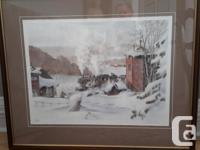 """Winter of 1947"" by Wentworth Folkins. Signed"