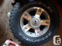 LT245/75R16 M&S Four tires on rims, many years of