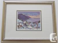 Quebec artist Jacques Poirier. Print is entitled
