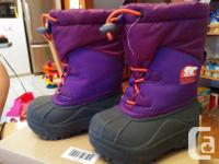 Winter boots available for sale. Our daughter used them