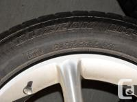 4 X Run flat tires on Rims with pressure sensors fit on