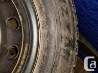 Make an offer: Four tires on steel winter rims, were on