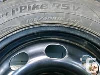 4 x Hankook IPIKE RSV on steel rims 185 / 60R15 84T