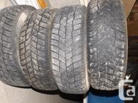 4 Hankook I-Pike RC01 Winter season tires available on