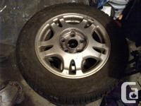 (4) Winter tires like new on oem toyota aluminum rims