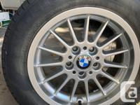 Original Winter tires and rims for BMW. 225/55/16.  In