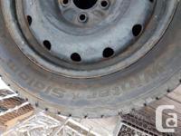 BF Goodrich Winter Slalom tires on steel rims. Size
