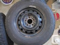 Tires and wheels set. 4 Goodyear Nordic winter tires,