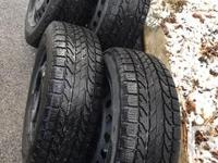 BF GOODRICH WINTER SLALOM TIRES AND WHEELS 4 tires: