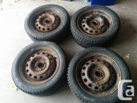 Selling a set of four winter tires. These tires are