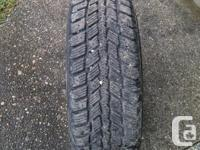 A set of 4 P195/65R15 snow tires on 5x100 rims. Were on