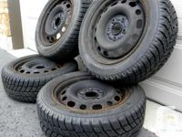 Winter package tires & steel rims, used one season from