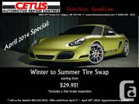 AUTO SPECIAL: Winter to Summer Tire Swap Starting from