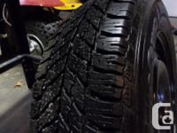 goodyear winter ultragrip 215/65/16 used for one season