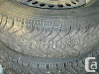 We have 2 Goodyear Nordic winter season tires on rims,