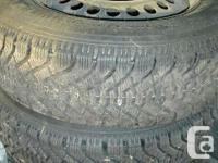 We have 2 Goodyear Nordic winter months tires on rims,