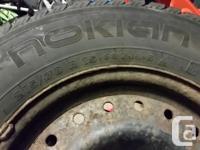Nokian Hakkapeliitta Wintertime Tires on Rims. These