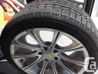 . 4 wintertime tires on rims for sale. Around 14,000