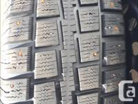 For sale: Cooper Discoverer M+S studded winter tires,