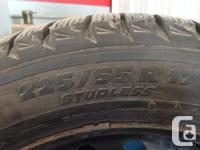 4 michelin 225 55 17 winter season tires installed on
