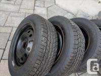 Excellent condition Winter tires & Rims slighty used -
