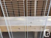 4 different sizes of shelves. 2- large 3�8� long and